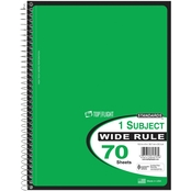 Top Flight Wirebound 10.5 x 8 in. Wide Ruled Notebook 70 Sheets