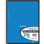 Top Flight Wirebound 10.5 x 8 in. College Ruled Notebook 70 Sheets
