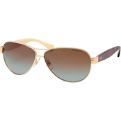 Ralph Lauren Logo Aviator Sunglasses