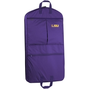 WallyBags NCAA LSU Tigers 40 in. Suit Length Garment Bag with Pockets