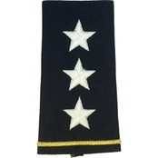 Army Shoulder Mark Officer Lieutenant General LTG Large Male Slide-On