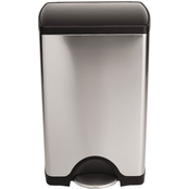 simplehuman Rectangular Step Trash Can with Plastic Lid