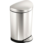 simplehuman 10 Liter Semi Round Step Can