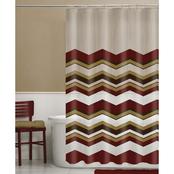 Maytex Chevron PEVA Shower Curtain and Hooks 13 pc. Set
