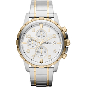 Fossil Men's Dean Stainless Steel and Goldtone Two Tone Chronograph FS4795