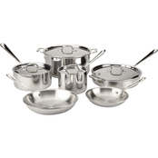 All-Clad Stainless Steel 10 pc. Cookware Set