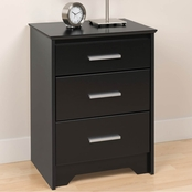 Prepac Coal Harbor 3 Drawer Tall Nightstand