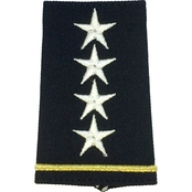 Army Shoulder Mark Officer General GEN Small Female Slide-On