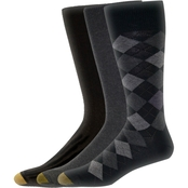Gold Toe Men's Classic Argyle Socks, Assorted 3 Pk.