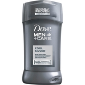 Dove + Men Cool Silver Invisible Solid Antiperspirant Deodorant Stick
