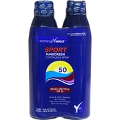 Exchange Select Sport SPF50 Continuous Spray 6 oz. Twin Pack