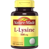 Nature Made L-Lysine 500 mg Tablets 100 Ct.