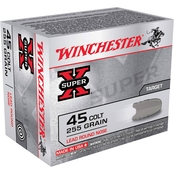 Winchester Super-X .45 LC 255 Gr. Lead Round Nose, 20 Rounds