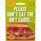 Quiznos $15 Gift Card