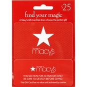 Macy's Real Time $25 Gift Card