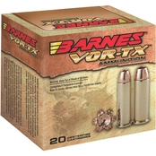Barnes VOR-TX .44 Mag 225 Gr. XPB Jacketed Hollow Point Lead Free, 20 Rounds