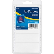 Avery White All-Purpose Labels, 1 x 2.75 in., 128 pk.