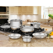 Cuisinart Contour Stainless Steel 10 pc. Cookware Set