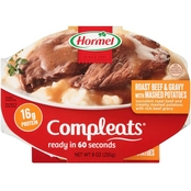 Hormel Compleats Roast Beef and Mashed Potatoes with Gravy 9 oz.