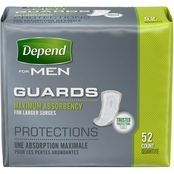 Depend Guards  Incontinence Pads for Men, Maximum Absorbency, 52 Ct.