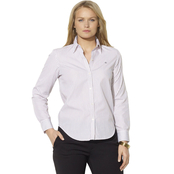Lauren Ralph Lauren Petite Striped Wrinkle Free Dress Shirt