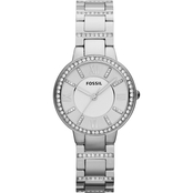 Fossil Women's Virginia Stainless Steel Watch with Crystal Accents 6118460