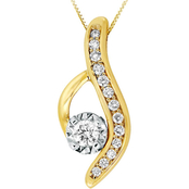 14K Two Tone Gold 1/4 CTW Diamond Pendant