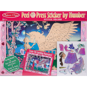 Melissa & Doug Peel and Press Sticker by Number, Mystical Unicorn