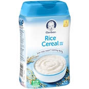 Gerber Single Grain Rice Cereal 8 Oz.