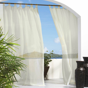 Commonwealth Home Fashions Escape Indoor, Outdoor Grommet Top Curtain Panel