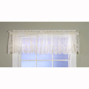 Commonwealth Home Fashions Mona Lisa Tailored Window Valance 56 x 15, White