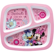 Zak Designs Minnie Mouse Divided Plate for Kids