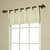 Commonwealth Home Fashions Thermalogic Weathermate Tab Top Valance Natural