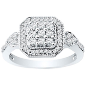 10K White Gold 1/2 CTW Diamond Fashion Ring