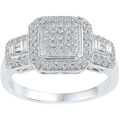 Sterling Silver 1/3 CTW Diamond Fashion Ring