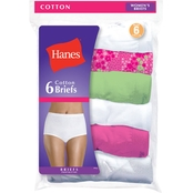 Hanes Assorted Cotton Briefs, 6 Pk.