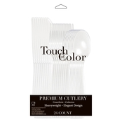 Touch of Color Premium Clear Assorted Cutlery, 24 pk.