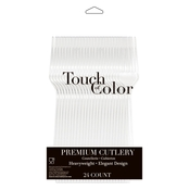 Touch of Color Clear Premium Forks, 24 pk.