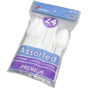 Skilcraft Plastic Cutlery Assortment 24 ct.