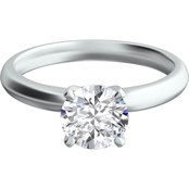 Platinum 1 ct. Cathedral Setting Solitaire Diamond Ring