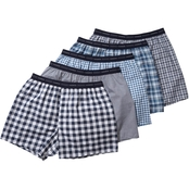 Hanes Men's 5 pk. Tagless Tartan Boxer Shorts