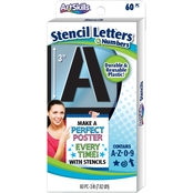 Artskills 3 in. Stencil Letters and Numbers 60 ct.