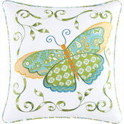 C&F Home Butterfly Square Pillow