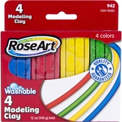 RoseArt Modeling Clay, 4 Colors, 12 oz.
