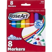 RoseArt Broad Bold Washable Markers, 8 pk.