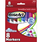 RoseArt Broad Classic Washable Markers, 8 pk.