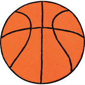 C&F Home Basketball 3 ft. Round Hooked Rug