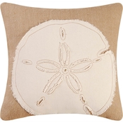C&F Home Sand Dollar Burlap Pillow