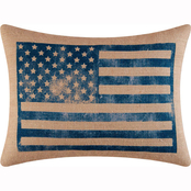 C&F Home Flag Burlap Pillow