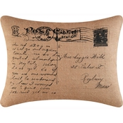 C&F Home Postcard Burlap Pillow